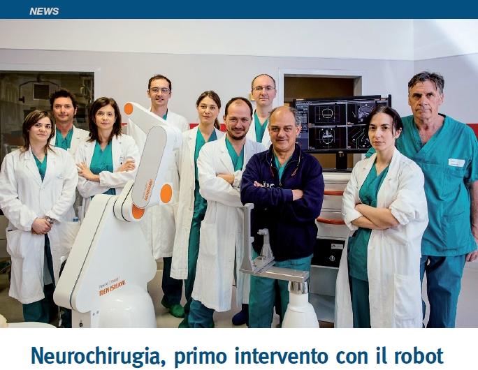 Neurochirugia, primo intervento con il robot