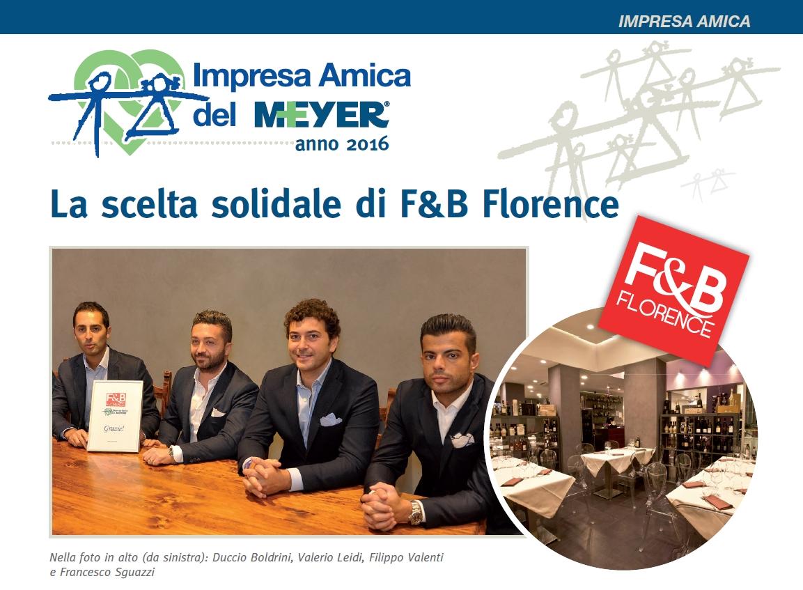 La scelta solidale di F&B Florence