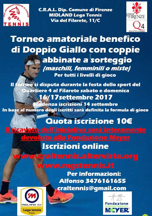 Torneo amatoriale Tennis Cral Firenze