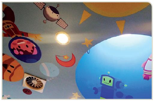 Un soffitto colorato per addormentarsi più sereni