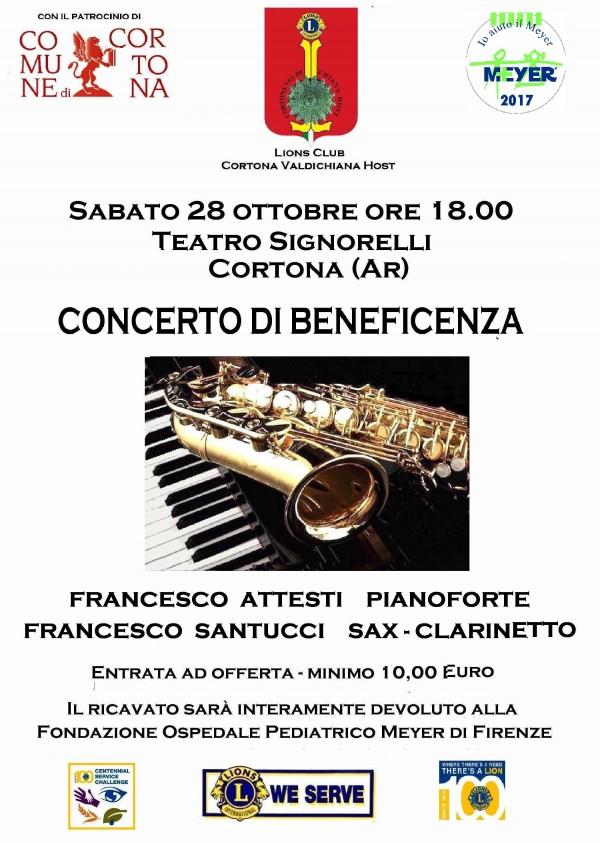 Concerto di beneficenza a Cortona