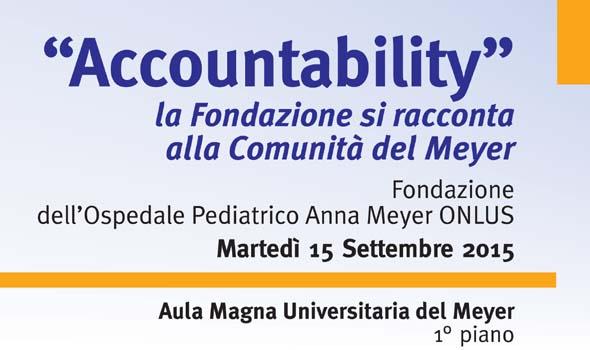 Accountability: La Fondazione si racconta alla Comunità del Meyer