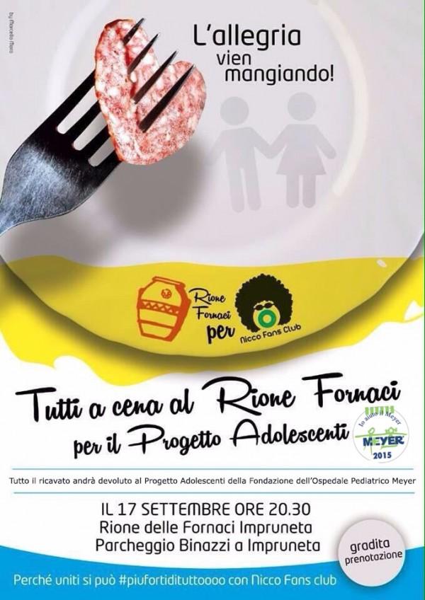Tutti a cena al Rione Fornaci per il Progetto Adolescenti!