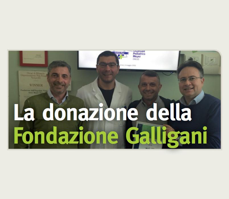 La donazione della Fondazione Galligani