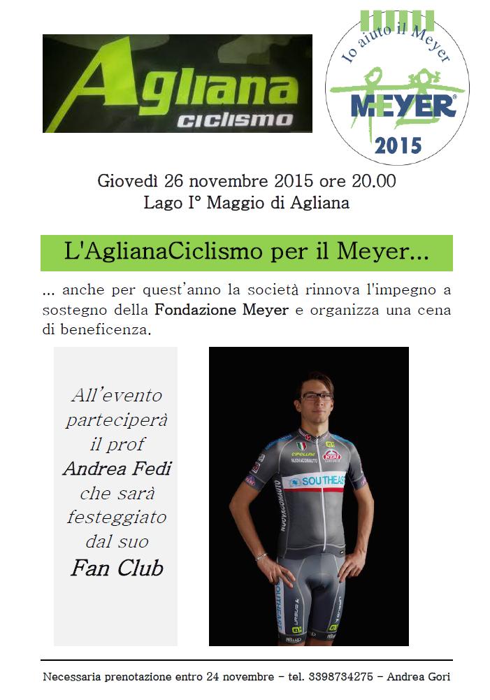 Agliana ciclismo per il Meyer