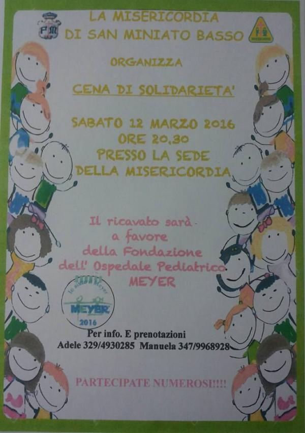 Cena di solidarietà San Miniato Basso