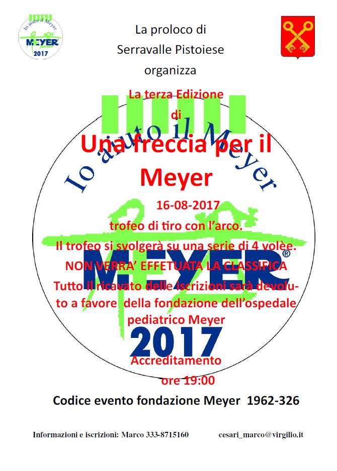 Un freccia per il Meyer 2017