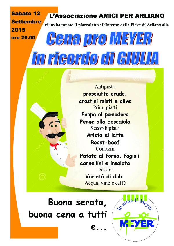 Cena in ricordo di Giulia