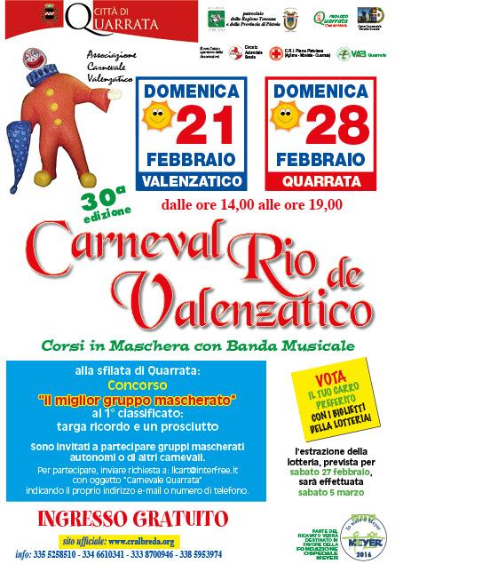 Carnevale Rio de' Valenzatico - Lotteria 2016