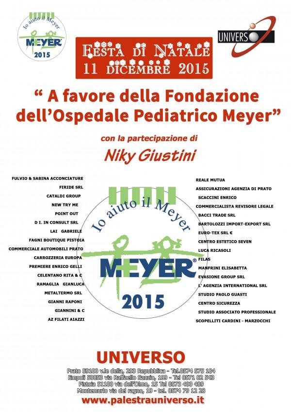 Palestra Universo: festa di Natale per la Fondazione Meyer