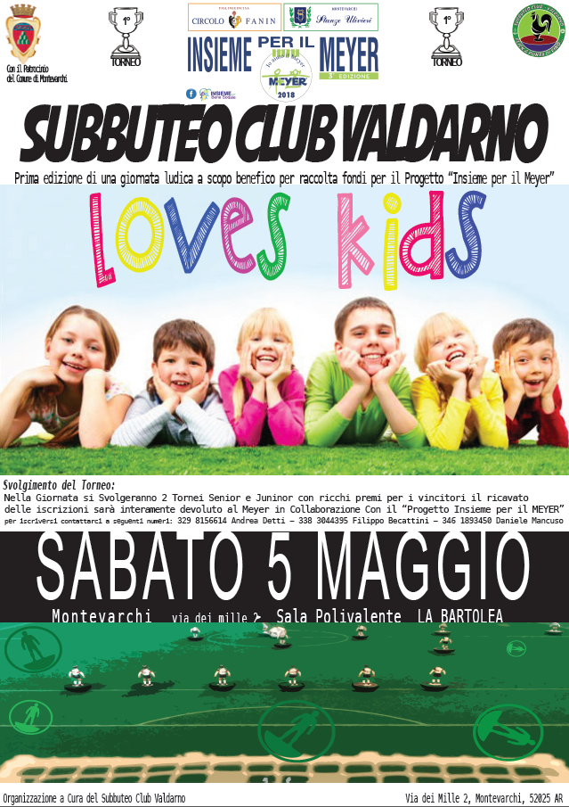 Subbuteo Club Valdarno Love Kids