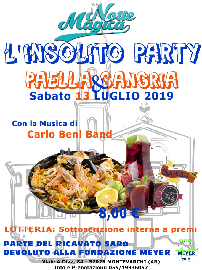 "L'insolito party ""Paella & Sangria"""