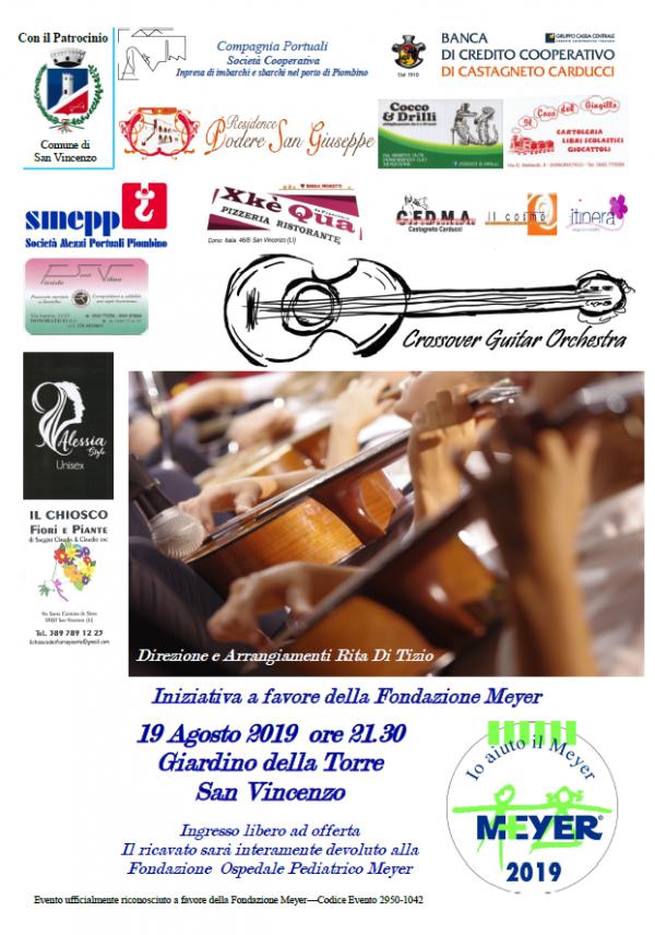 Crossover Guitar orchestra in concerto per il Meyer
