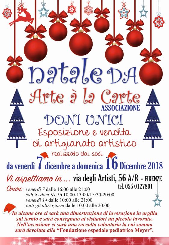 Natale da Arte a la Carte