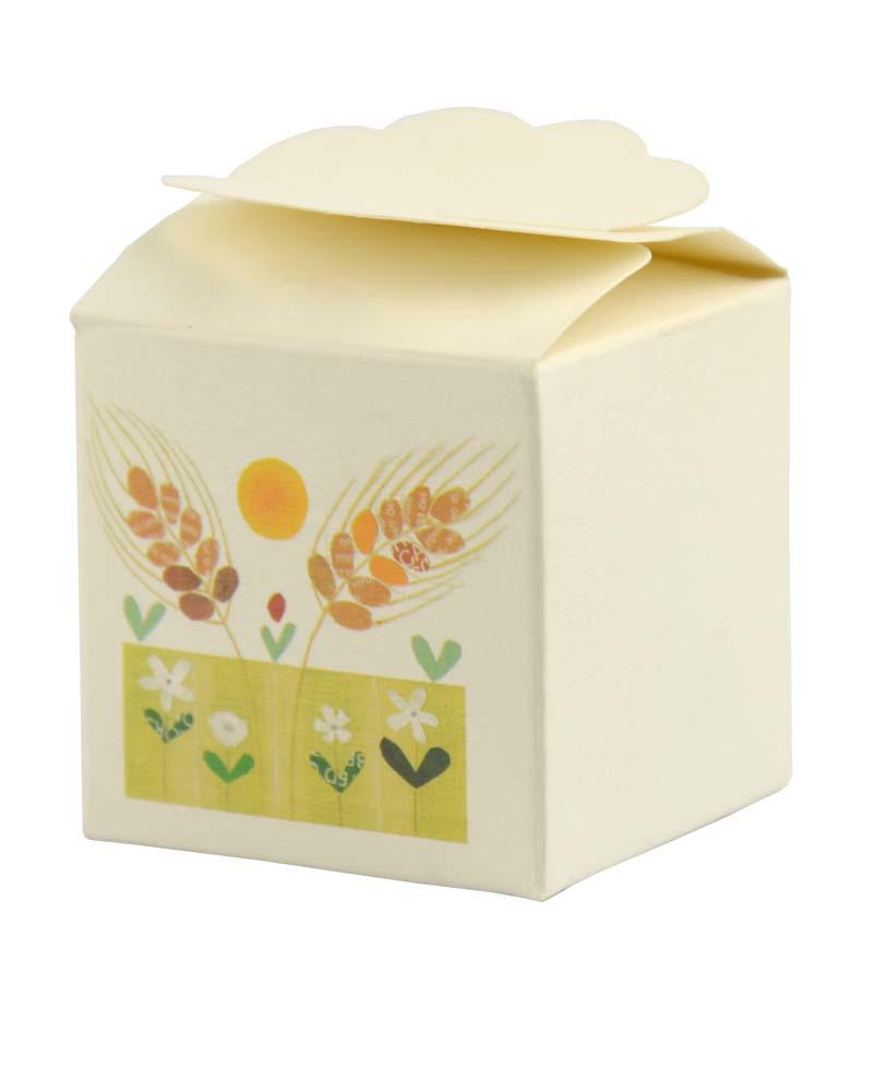 Bomboniera scatolina Spiga di grano (Confezione da 10 pezzi)