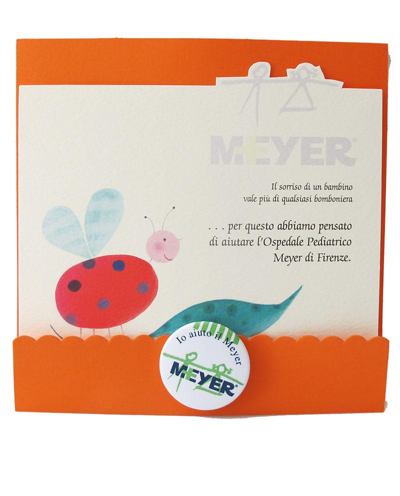 Bomboniera cartoncino coccinella