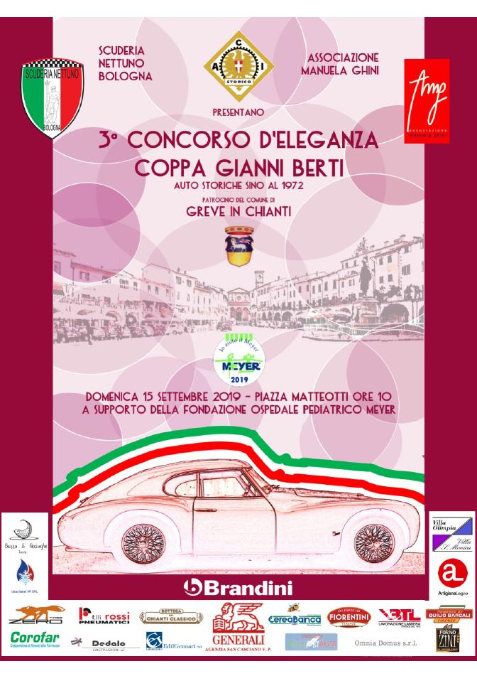 3° Concorso d'eleganza – Coppa Gianni Berti