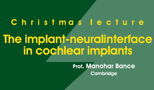 Christmas lecture: The implant-neuralinterface in cochlear implants