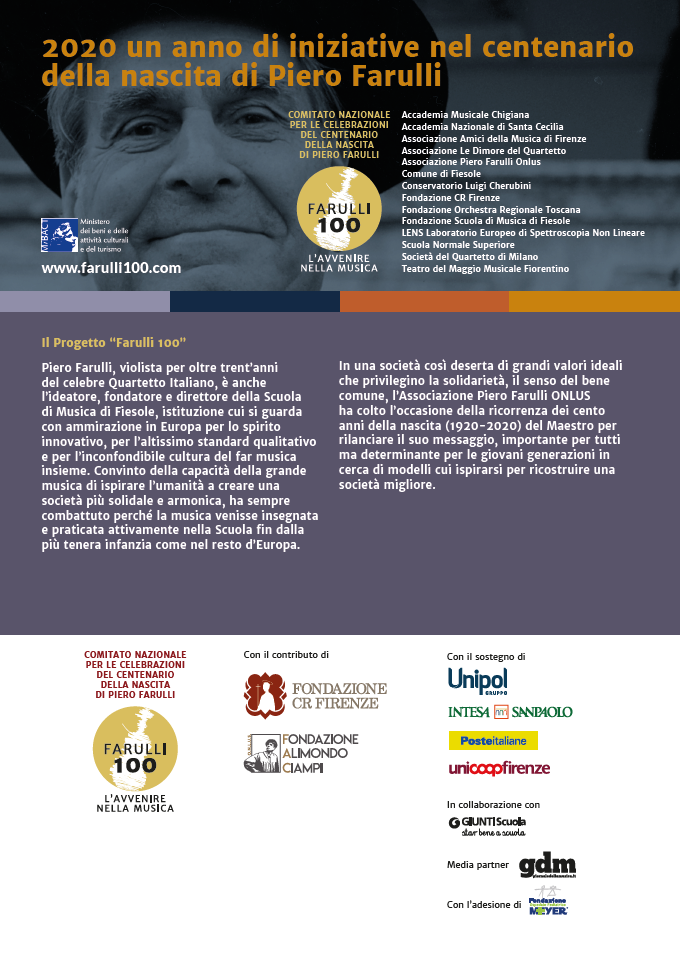 2020 un anno di iniziative nel centenario della nascita di Piero Farulli
