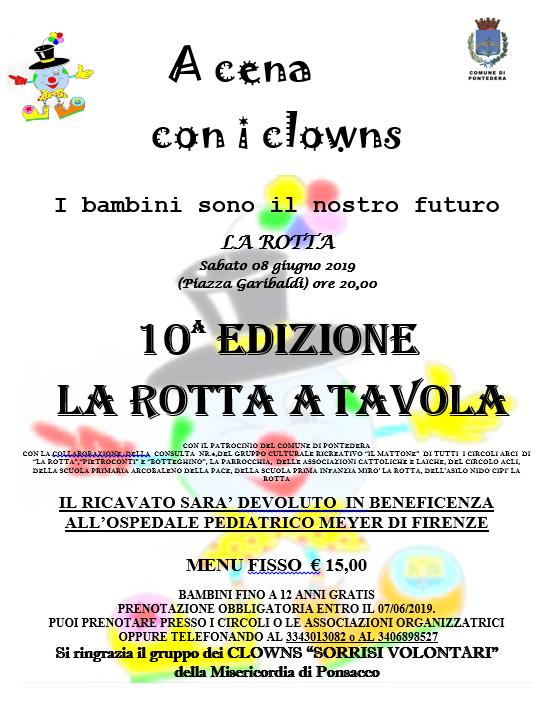 A cena con i Clowns 2019