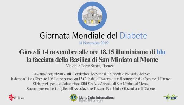 Giornata Mondiale del Diabete – San Miniato illuminato di blu