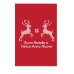 Biglietto rosso con renne (B03-p)-10