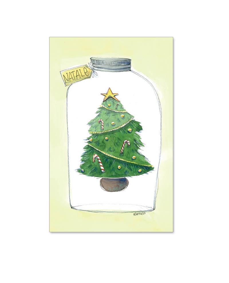 Biglietto con albero in bottiglia (B05-p)