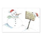 Biglietto con Pupazzo di neve (B06-p)-10