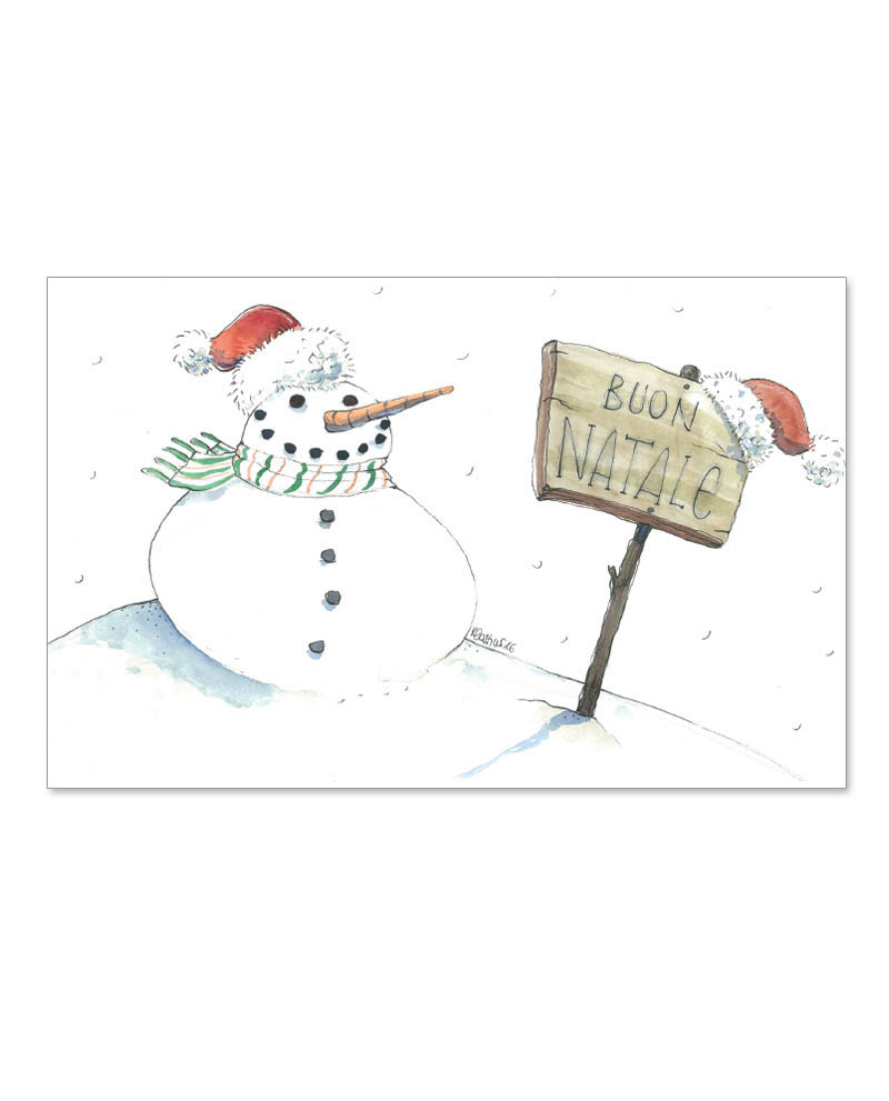 Biglietto con Pupazzo di neve (B06-p)