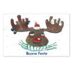 Biglietto con renna natalizia (B07-p)-10