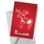 Biglietto con renna rossa (BA04)-10