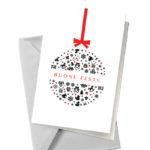 Biglietto pallina rossa e nera (BA05)-10