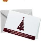 Biglietto pregiato albero rosso a caldo (BP07)-10