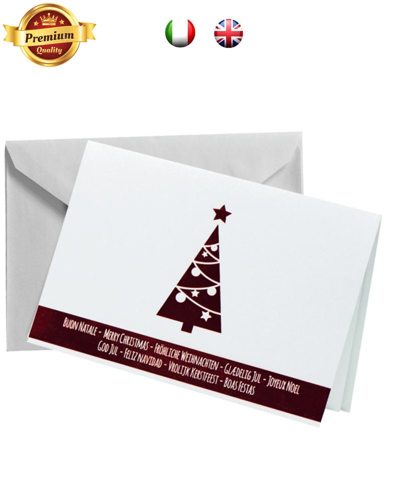 Biglietto pregiato albero rosso a caldo (BP07)