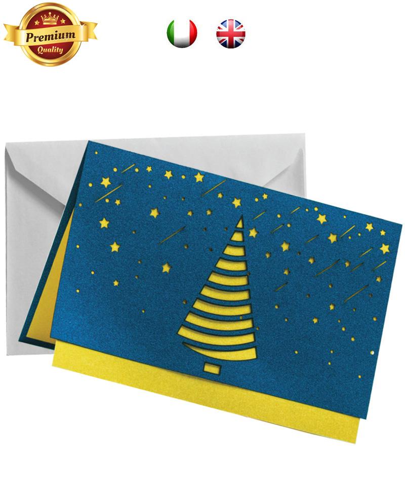 Biglietto pregiato con pioggia di stelle (BP08)