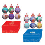 Set 6 palline decorate con elegante scatola-10