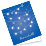 Biglietto azzurro con addobbi (B09-P)-10