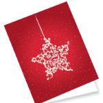 Biglietto rosso con stella (B01-P)-10