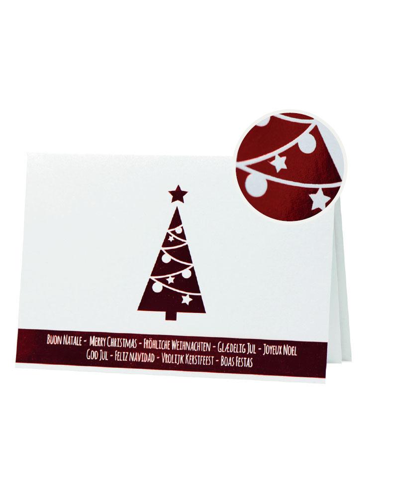 Biglietto pregiato albero rosso a caldo (BP0002-P)