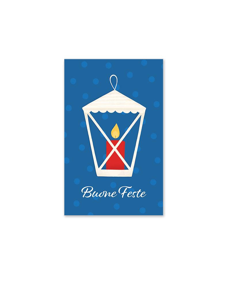 Biglietto con candela natalizia (B12-p)