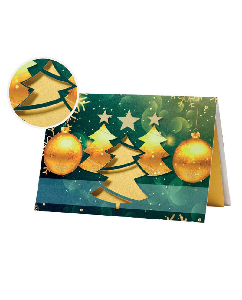 Biglietto pregiato con albero dorato (BP0001-P)