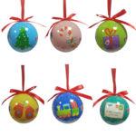 Scatola con 6 palline decorate (SC01)-11
