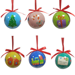 Scatola con 6 palline decorate (SC01)-1