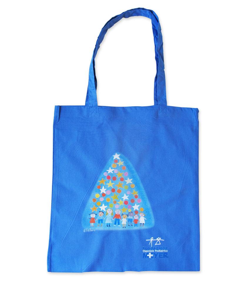 Shopper con albero natalizio