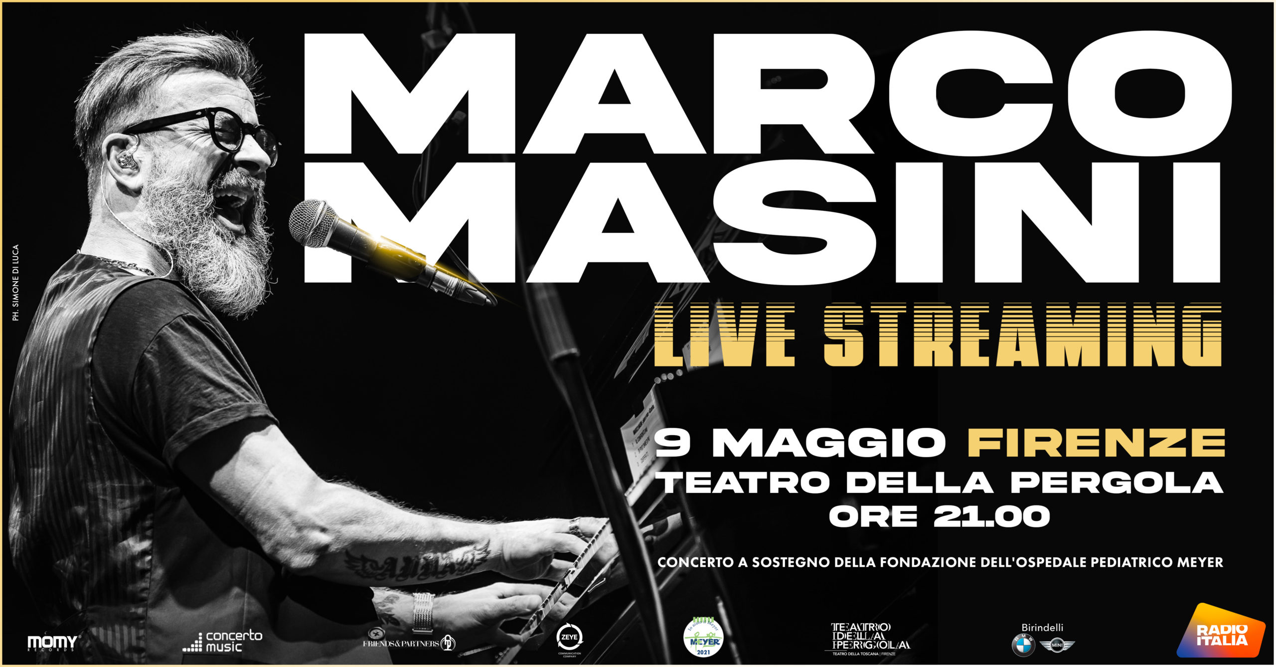 Marco Masini in live streaming