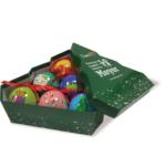 Set 6 palline decorate con elegante scatola verde-10
