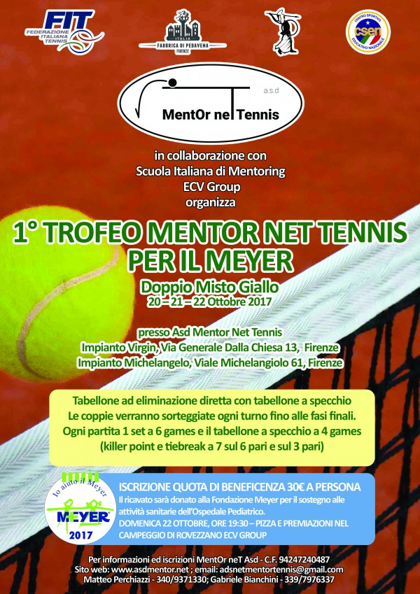 1° Trofeo MentOr neT Tennis per il Meyer